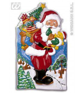 Wanddecoratie Kerstman In Landschap