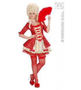 Koningin Barok Rood Miss Mozart Kostuum Vrouw