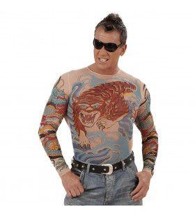 Tattoo Shirt Tijger En Draak, Man