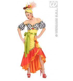 Braziliaanse Luxe Lang En Gekleed Kostuum Vrouw