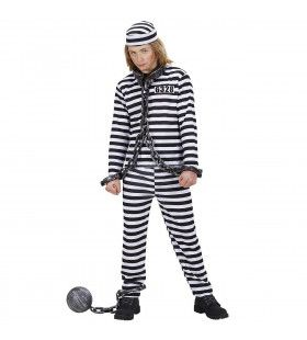 Boef Kind Zwart-Wit Gevangenisboef Kostuum Jongen