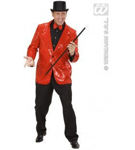 Pailletten Jas Rood Man Kostuum