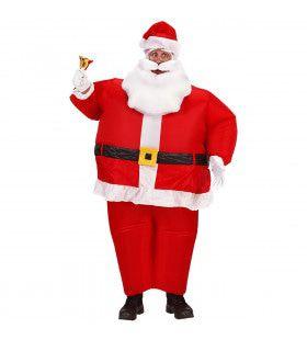 Opblaasbare Kerstman Fat Santa Kostuum