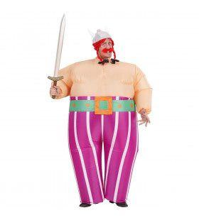 Opblaasbaar Viking Obelix Kostuum Man