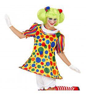 Vrolijk Clown Meisje Kostuum Vrouw