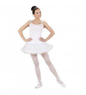 Klassieke Prima Ballerina Wit Kostuum Vrouw