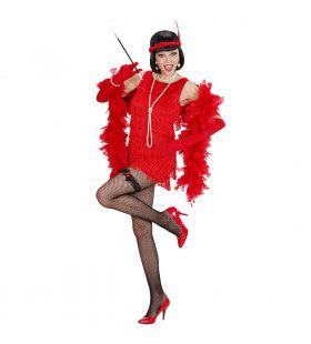 Luxe Flapper Rood Lady 20s Kostuum Vrouw