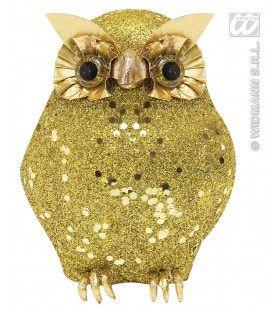 Glitter Uil Goud 15cm
