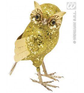 Glitter Uil Goud 18, 5cm