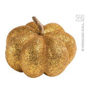 Glitter Pompoen Oranje 15cm