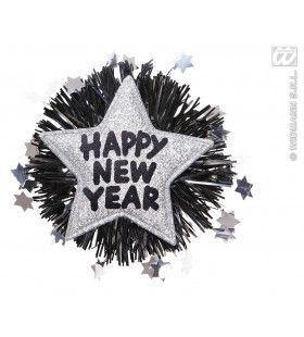 Broche Happy New Year Zilver