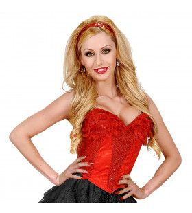 Corset Kant, Rood