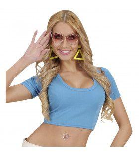 Katoenen Top, Blauw