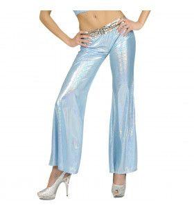 Holografische Broek Dames, Blauw Vrouw