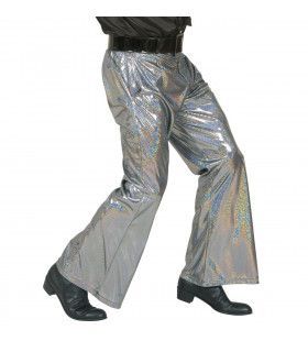 Holografische Broek, Zilver Man