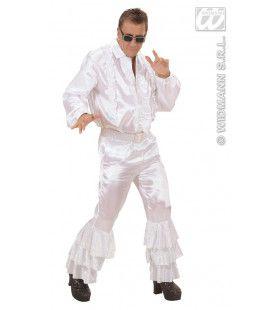 Witte Broek Satijn Met Pailletten Man Kostuum