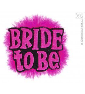 Broche Zwart Bride To Be