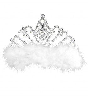 Prinsessen Tiara Met Witte Marabou