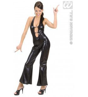 Jumpsuit Zwart Hot & Jumping Kostuum Vrouw