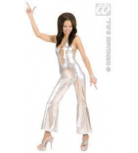 Jumpsuit Zilver Hot & Jumping Kostuum Vrouw