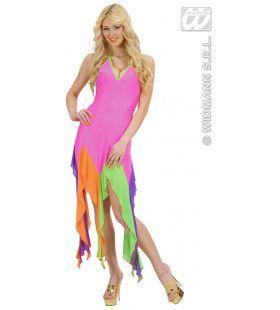 Braziliaanse Jurk Neon Rose Serpentine Kostuum Vrouw