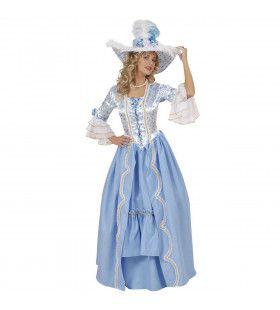 Victoriaanse Britse Hofdame 18e Eeuw Kostuum Vrouw