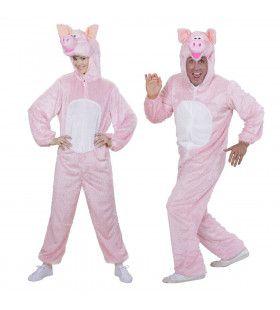 Plushe Varken Piggy Pig Volwassen Kostuum