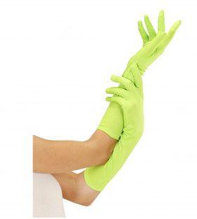 Handschoen Lang Neon, Groen