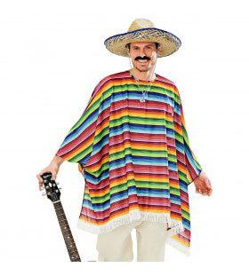 Poncho Set Met Sombrero Ole Muchacho Volwassen Kostuum