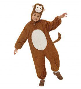 Full-Body Pluche Aap Kind Kostuum