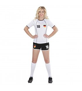 Sexy Voetbal Meisje Duitsland Vrouw Kostuum