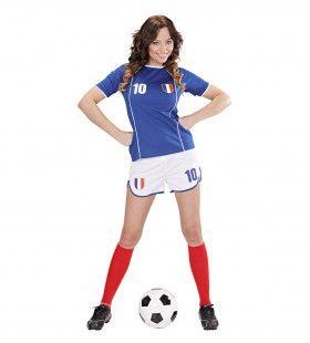Sexy Voetbal Meisje Frankrijk Vrouw Kostuum