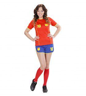 Sexy Voetbal Meisje Spanje Vrouw Kostuum