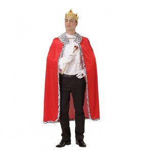 Monsieur Royal Koningsmantel Met Kroon Kostuum