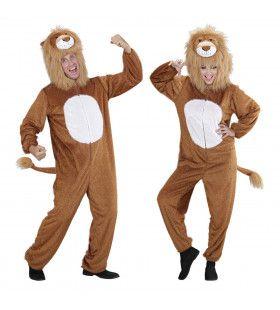 Full-Body Pluche Leeuw Volwassen Kostuum