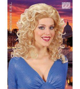 Pruik, Rita Blond Met Highlights