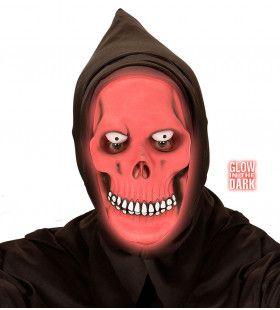 Masker Gimreaper, Rood Lichtgevend In Donker Night Light