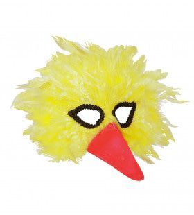 Grappig Veren Masker Vogel, Geel
