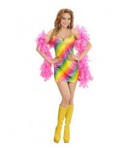 70s Regenboog Dame Vrouw Kostuum