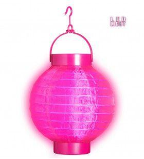 Feestelijke Lampion Met Licht 15cm, Rose