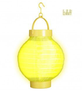 Feestelijke Lampion Met Licht 15 Centimeter Geel