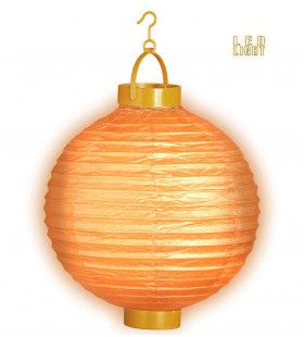 Feestelijke Lampion Met Licht 30cm, Oranje