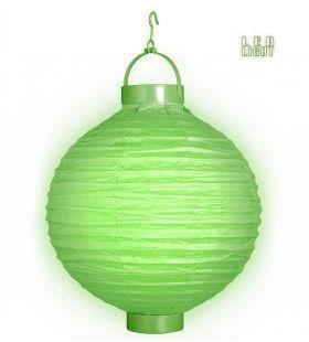 Feestelijke Lampion Met Licht 30cm, Groen