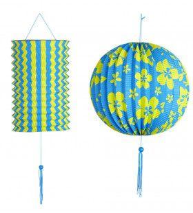 Feestelijke Decoratie Set Blauw / Geel