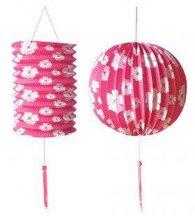 Feestelijke Decoratie Set Roze / Wit