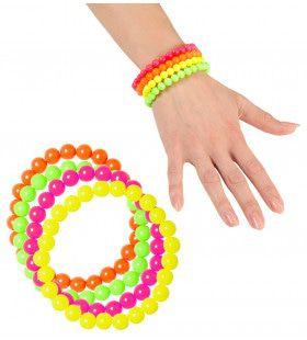 Rock Chick Neon Geparelde Armband