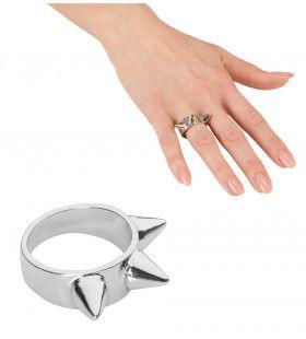 Punk Ring Zilver Met 3 Nagels