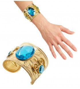 Egyptische Armband Goud Topaas Steen