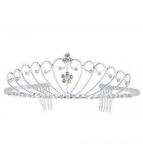 Beauty Queen Tiara Zilver Strass