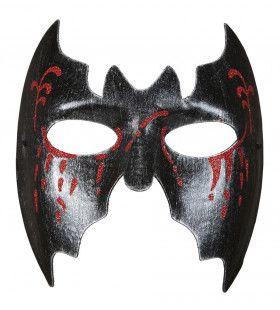 Transylvanie Masker Vleermuis Met Bloedende Ogen